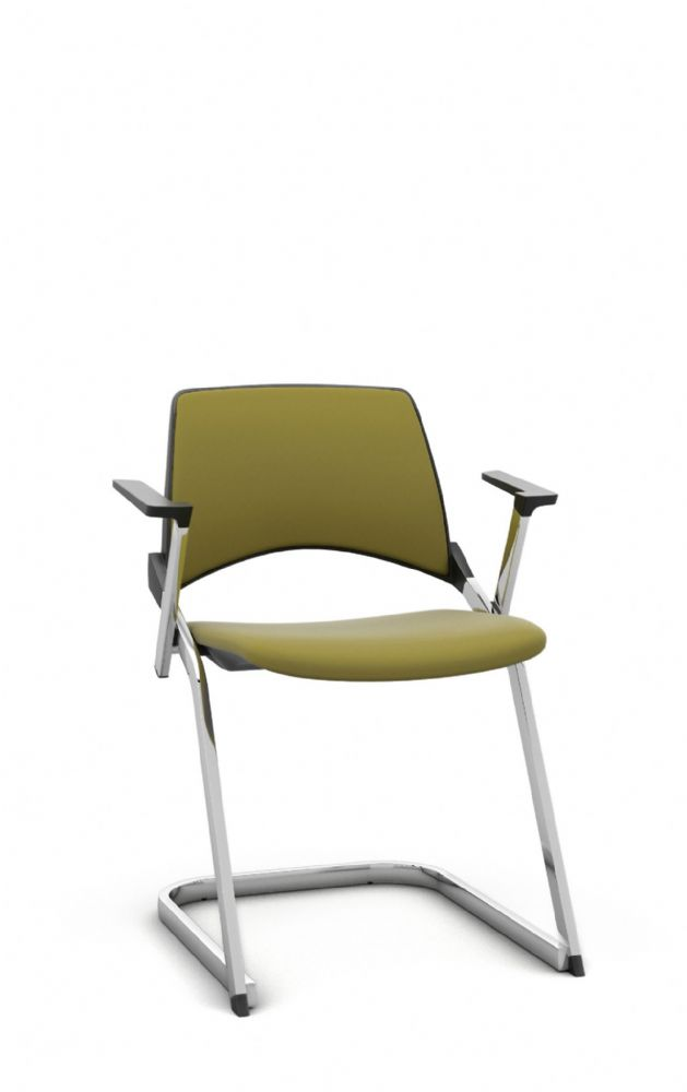 Pledge La Kendo Stacking Meeting Room Chair With Cantilever Base and Fixed Arms
